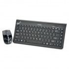 Stylish 2.4GHz Wireless 86-Key Keyboard and 1600DPI Optical Mouse Set - Black (2 x AAA / 2 x AAA)