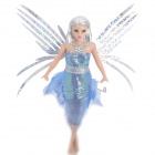 Flitter Fairies Image Doll Toy with Flapping Wings - Eva (1 x CR1620)