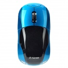 Fashion Car Style 2,4 GHz Wireless Optical Mouse 1000dpi w / USB-Receiver - Blau + Schwarz
