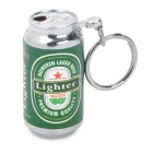 Novelty Mini Beer Can Style Butane Gas Lighter - Green