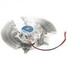 Professional GPU Heatsink with Cooling Fan - Silver