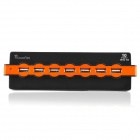 10-Port USB 2.0 Hub - Schwarz + Orange