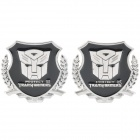 Transformers Autobots Pattern Metal Car Decorative Stickers - Silver + Black (Pair)
