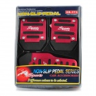 Vehicle Car Non-Slip Anti-Slip Pedal Cover Set for Brake/Accelerator - Red + Black (3-Piece Pack)