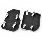 Vehicle Car Non-Slip Anti-Slip Pedal Cover Set for Brake/Accelerator - Silver + Black (Pair)