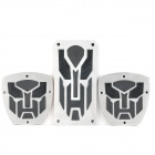 Transformers Autobots Replacement Pedal Cover Set for Vehicle Brake/Clutch/Accelerator - Silver