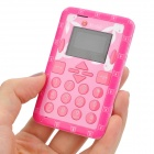 "Mini-M1 Ultra Slim GSM Card Phone w/ 1.2"" Screen, Quad-Band and Single-SIM - Pink"