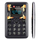 "Mini-M1 Ultra Slim GSM Card Phone w/ 1.2"" Screen, Quad-Band and Single-SIM - Black"