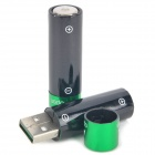 USB Rechargeable 1.2V 1000mAh AA Ni-MH Batteries (Pair)