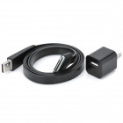 USB Charging & Data Cable for iPhone/iPod - Black (100-240V)