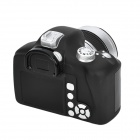 Unique Simulation DSLR Camera Shaped Coin Bank - Black + Silver