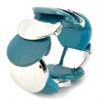 Stylish Round Acrylic Piece Bracelet - Blue + Silver