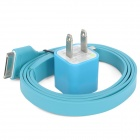 USB Data / Charging Cable with Adapter for iPhone 4 / 4S / iPod Series - Blue (100cm)
