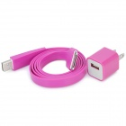 USB-2-Flat-Pin-Ladeadapter mit Laden & Datenkabel für iPhone 4/4S - Deep Pink