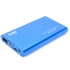Tragbare 5000mAh Externe Mobile Power Battery Charger w / Adapter - Blue