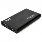 Tragbare 5000mAh Externe Mobile Power Battery Charger w / Adapter - Schwarz