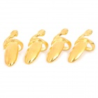 Stylish Finger Decoration Nail Ring - Golden (4-Piece Pack)