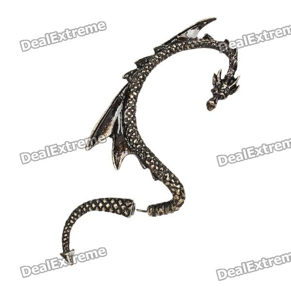 Cool Dragon Style Zinc Alloy Right-Ear Earring - Bronze alluminum alloy magic folding table bronze color magic tricks illusions stage mentalism necessity for magician accessories