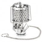 Portable Outdoor Camping 80LM White Light Lantern - Silver