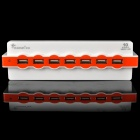 10-Port USB 2.0 HUB - White + Orange