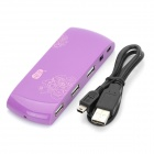 USB 2.0 7-Port Hub - Purple