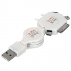 Retractable 6-in-1 USB 2.0-Ladekabel für iPhone / Samsung / Sony Ericsson / Nokia + Mehr
