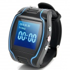 "HC608 1.5"" LCD GSM GPRS GPS Tracking Tracing Wrist Watch - Black"