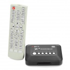 MANYTEL X18 HD 1080P Mini Media Player w/ USB / SD/MMC / HDMI / AV / YPbPr - Black