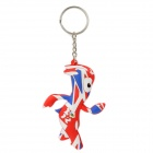 London 2012 Summer Olympics Mascot Mandeville Style Keychain - Red + Blue + White
