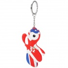 2012 London Summer Olympics Mascot Wenlock Keychain - Red + White + Blue