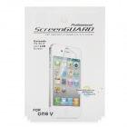 Clear Glossy PVC Screen Protector Guard w/ Cleaning Cloth for HTC One V (5-Pack)