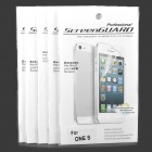 Clear Glossy PVC Screen Protector Guard w/ Cleaning Cloth for HTC One S (5-Pack)