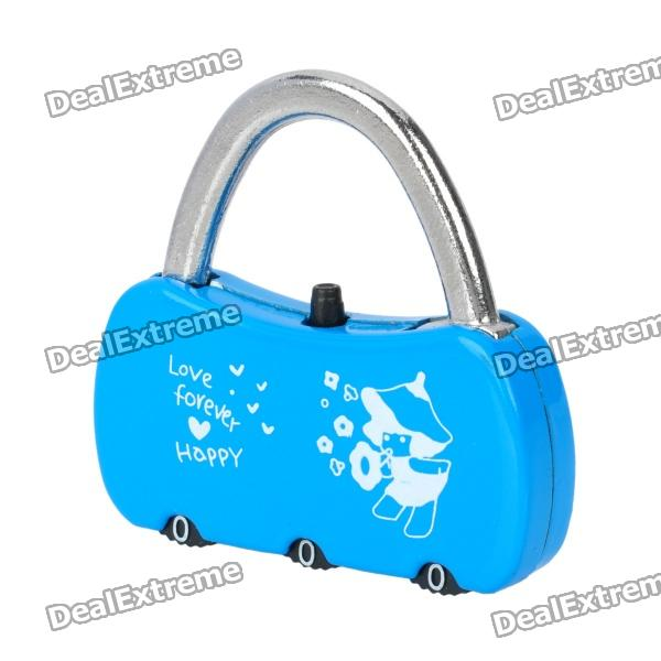 Mini 3-Digit PIN Combination Pad Lock - Blue уклономер geo fennel s digit mini