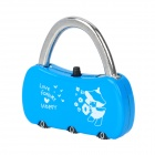 Mini 3-Digit PIN Combination Pad Lock - Blue