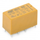 DIP Type HK19F-DC5V-SHG 8-Pin Power Relay - Yellow (5PCS)