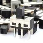 3-Pin Slide Switch DIY Parts - Black + Silver (20-Piece Pack)