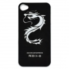 Dragon Pattern Protective Case w/ Caller Signal Flashing LED for Iphone 4 / 4S - Black (1 x CR2016)