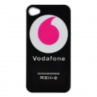 Protective Back Case w/ Caller Signal Flashing LED for iPhone 4 / 4S - Black + Deep Pink (1xCR2016)