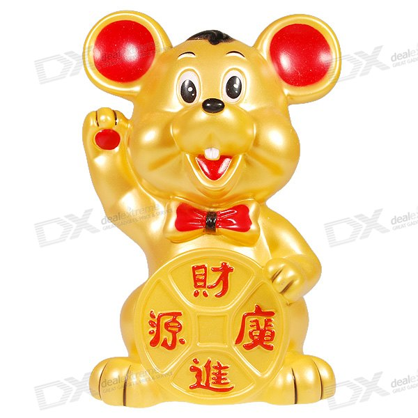 Golden Mice Luck Wishing Coin Bank
