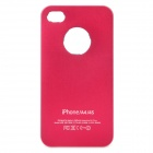 Protective Metal + PC Case for Iphone 4 / 4S - Rosy