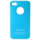 Stylish Matte Frosted Protective PC Back Case for iPhone 4 / 4S - Blue