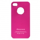 Protective Matte Frosted PC Back Case for iPhone 4 / 4S - Deep Pink