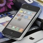Protective Frosted Metal Back Case for Iphone 4 / 4S - Black