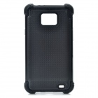 Protective Plastic Rubber Case for Samsung i9100 - Black