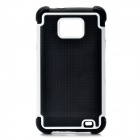 Protective Plastic Rubber Case for Samsung i9100 - White + Black