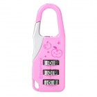 Mini 3-Digit PIN Combination Pad Lock - Pink