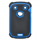 Protective Plastic Rubber Case for Blackberry 9900 - Blue + Black