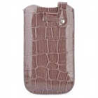Crocodile Pattern Protective PU Leather Pouch Case for HTC One X - Brown