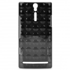 NILLKIN Polka Dot Style Protective PC Back Case for Sony Ericsson LT26i - Black