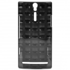 NILLKIN Square Dot Style Protective PC Back Case for Sony Ericsson LT26i - Black
